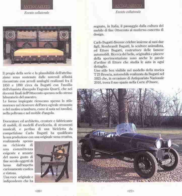 Carlo Bugatti - Gognasrl.it espone a Villa Castelbarco Vaprio d'Adda Milano