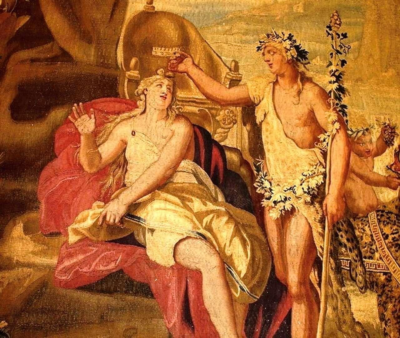 Arazzo epoca 700 mitologico
