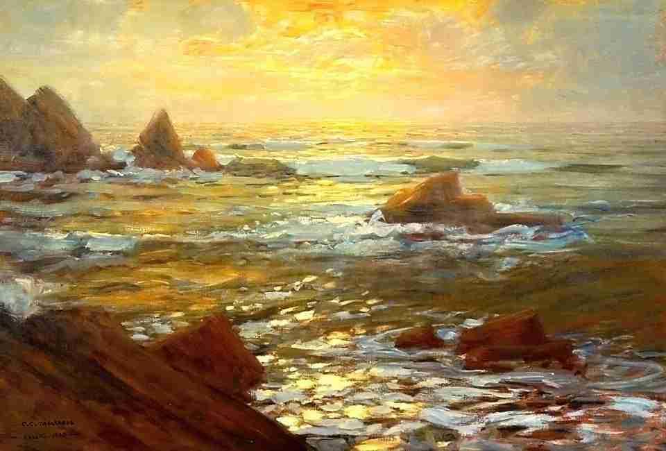Carlo Costantino Tagliabue olio su tela Rapallo 1923   0660056