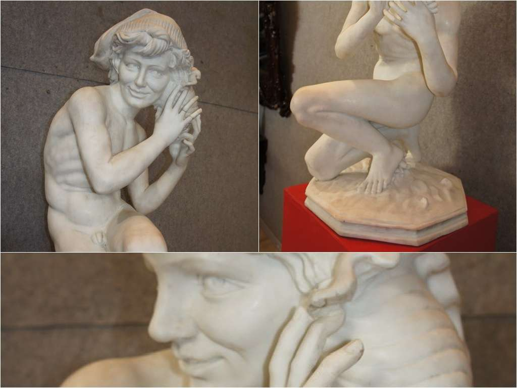 scultura in marmo G.P.Carpaux