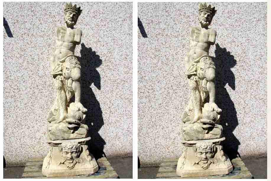 Antica fontana – Nettuno scolpito in pietra