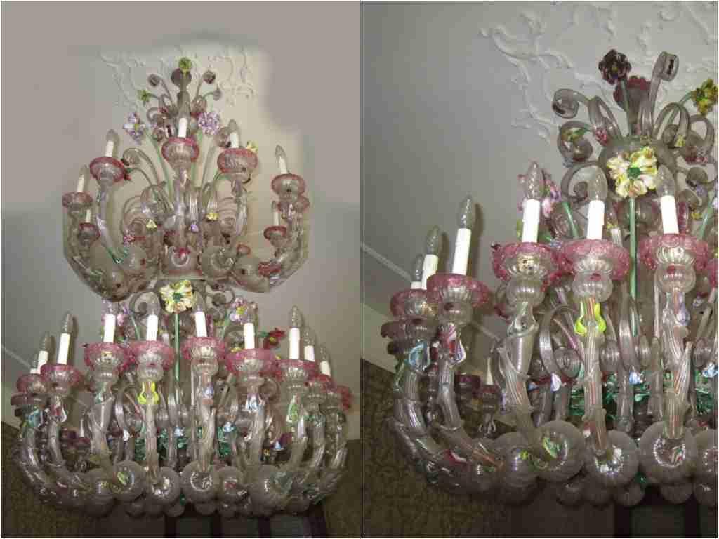 lampadario Ca'Rezzonico manifattura Murano
