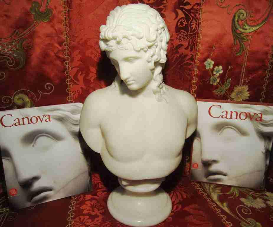 Canova – busto in marmo bianco