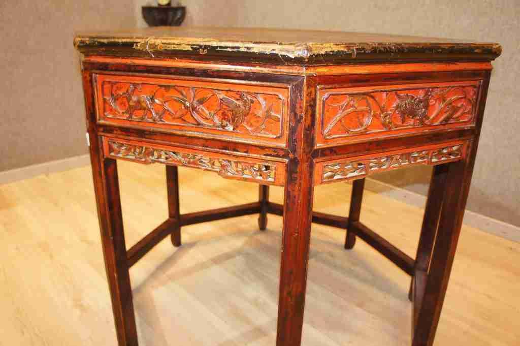 tavolo cinese laccato epoca 700