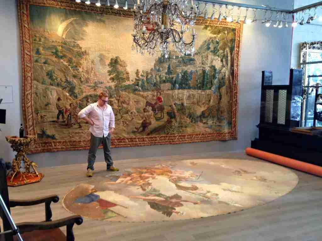 soffitto dipinto - Putti allegoria dell'amore - Tempera del 700