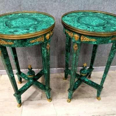 COFFEE TABLES MALACHITE CONGO GOLDEN BRONZE
