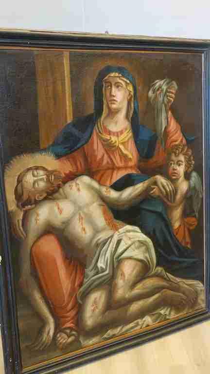 11 dipinto olio su tela