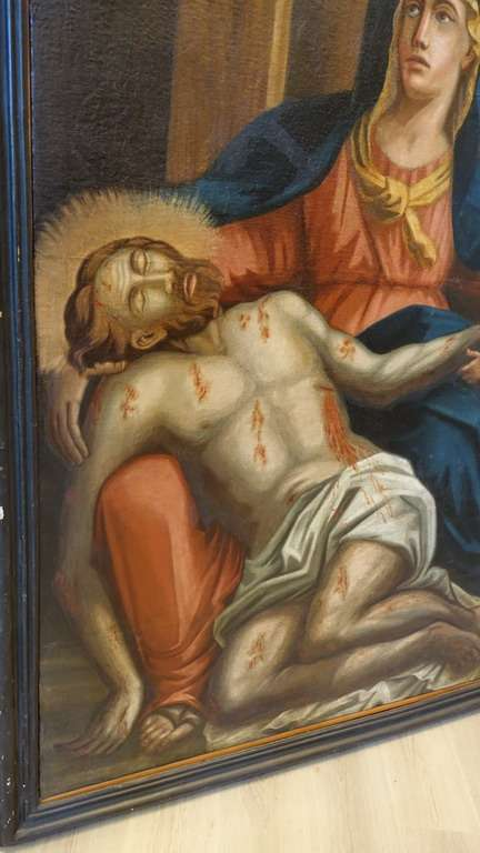 13 dipinto olio su tela