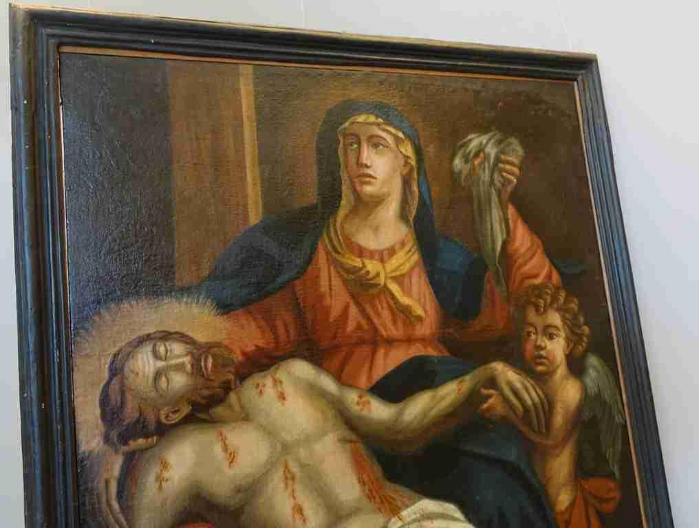 19 dipinto olio su tela