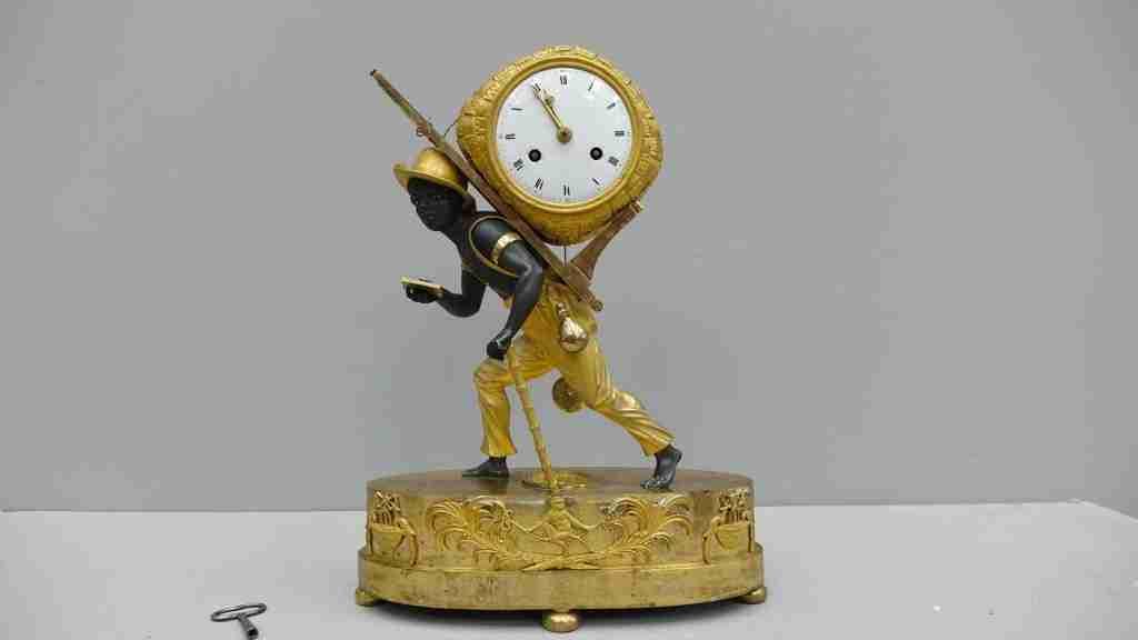 orologio bronzo dorato al mercurio 10