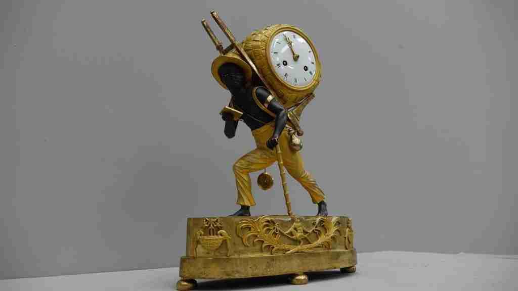orologio bronzo dorato al mercurio 12