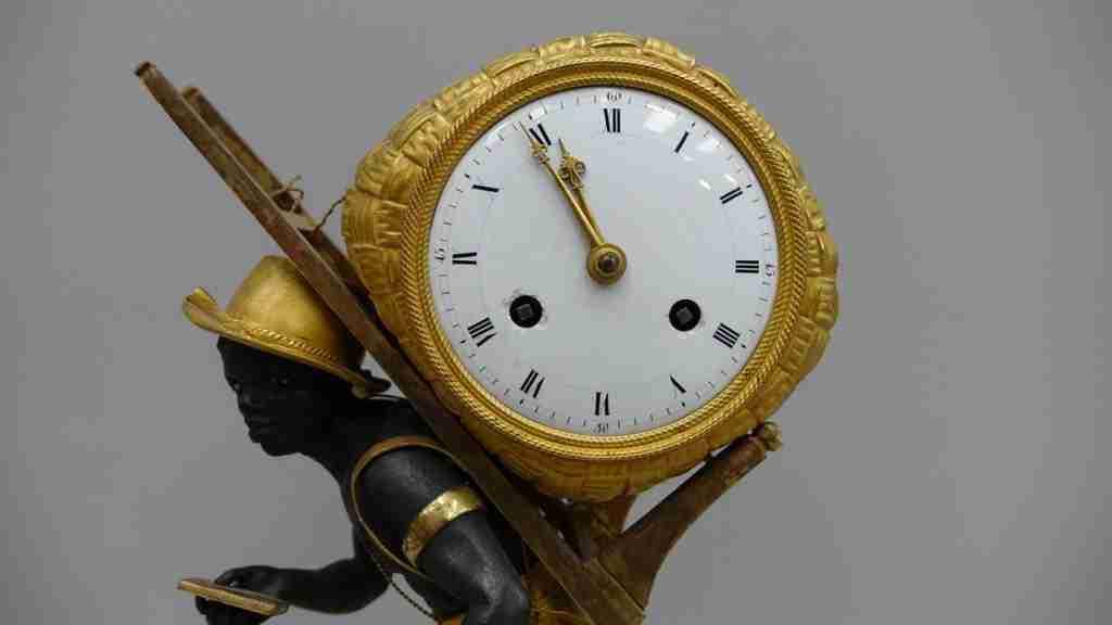 orologio bronzo dorato al mercurio 15