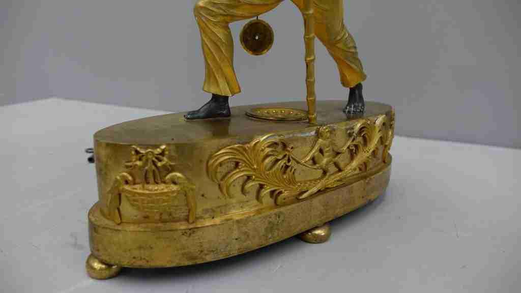 orologio bronzo dorato al mercurio 17