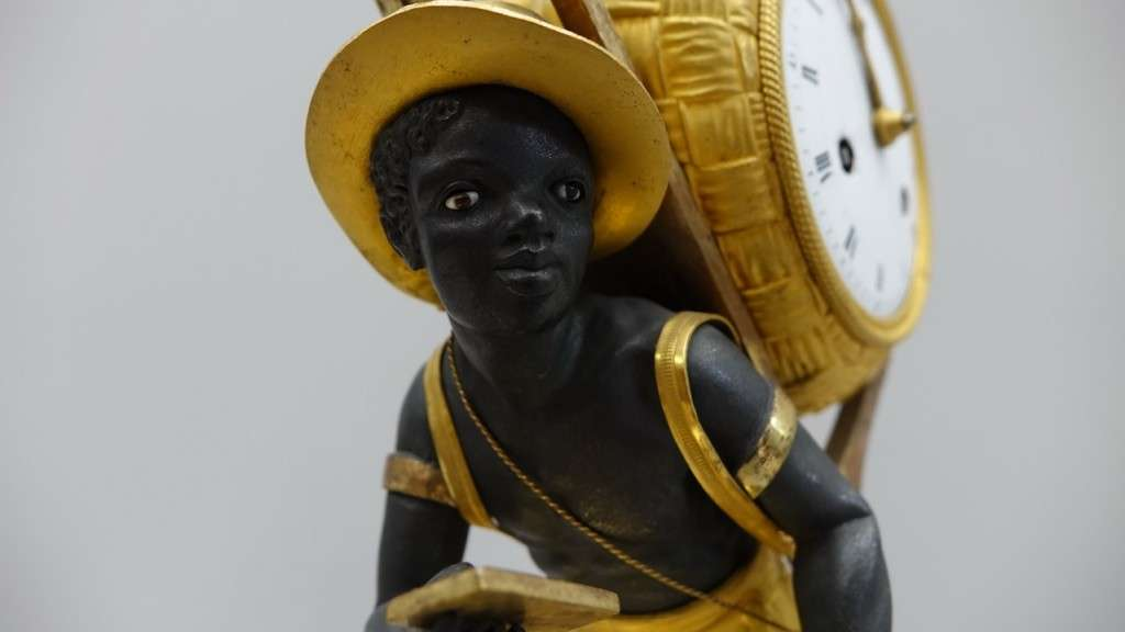orologio bronzo dorato al mercurio 19