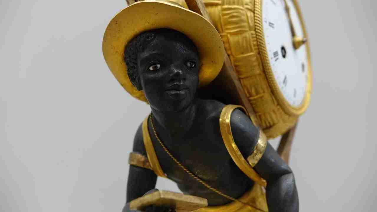 Orologio bon sauvage bronzo dorato al mercurio epoca 700