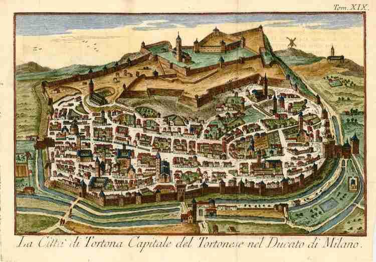tortona con le sue fortificazioni nel XVII secolo