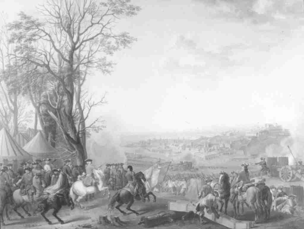 Giacinto la Pegna, L' assedio di Tortona del 1734 Dipinto nel 1752 Torino, Palazzo Reale