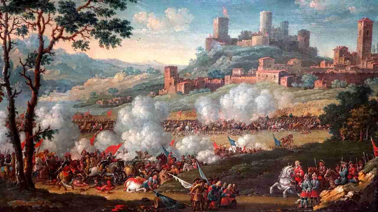 L'assedio di Tortona Olio su tela Charle Leopold Grevenbroeck
