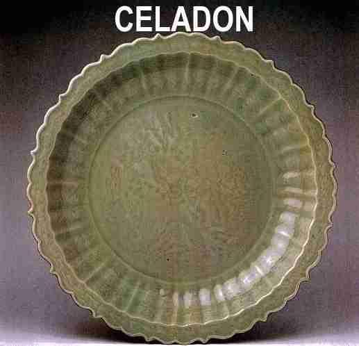 Piatto antico Cina: ceramica cinese celadon