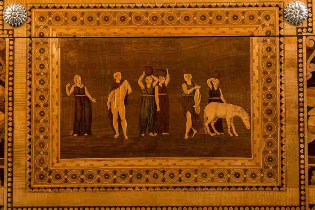 Francesco Abbiati pannello intarsiato 8