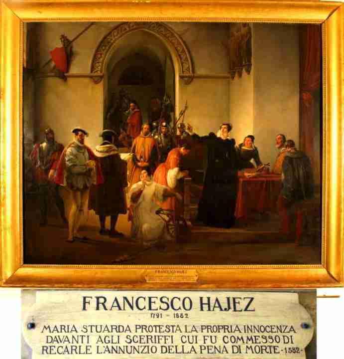 Hayez Francesco Maria Stuarda davanti agli scheriffi