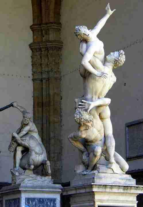 Ratto delle Sabine Giambologna loggia Lanzi