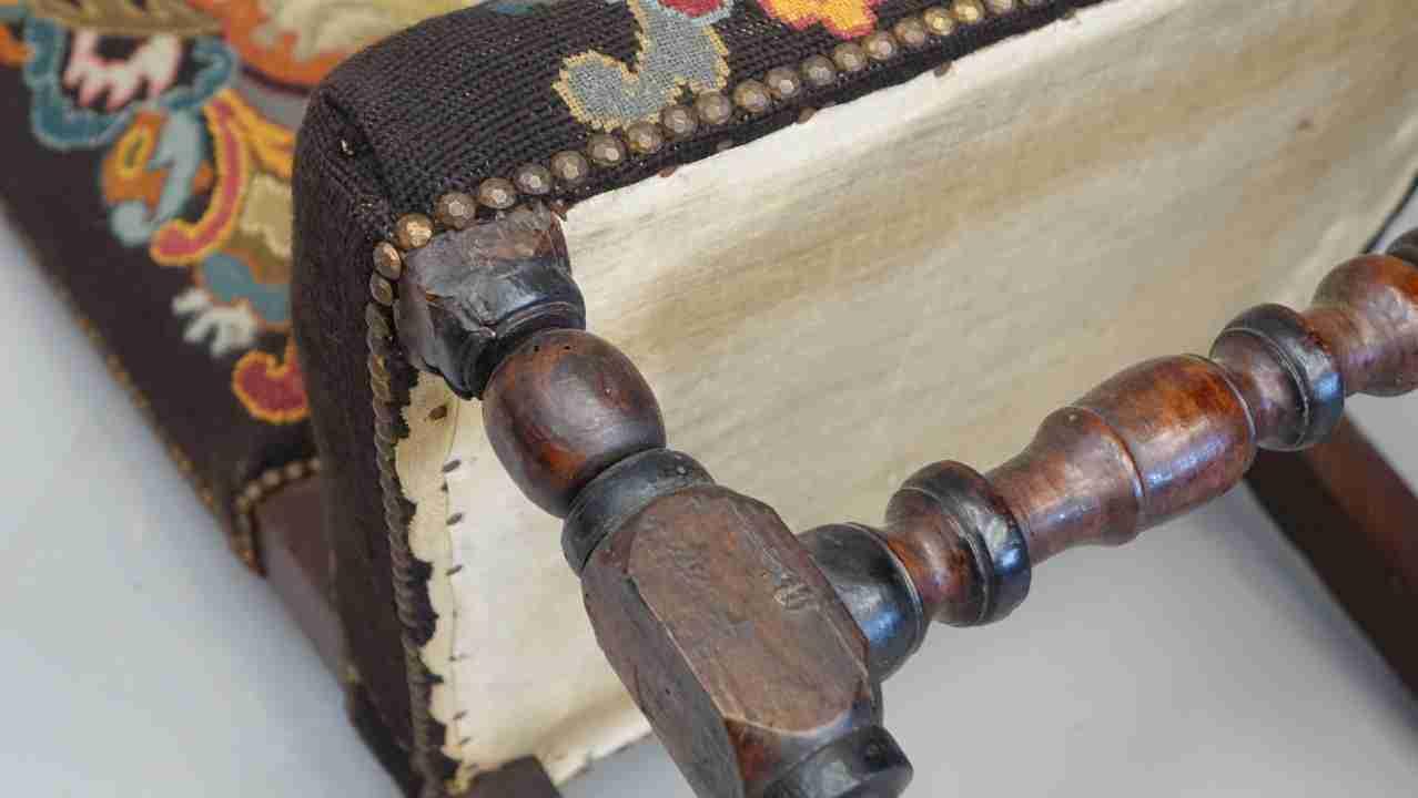 sedie rocchetto tessuto aubusson antico 15
