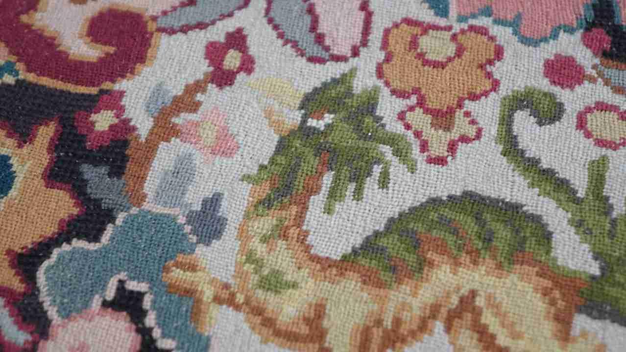 sedie rocchetto tessuto aubusson antico 9