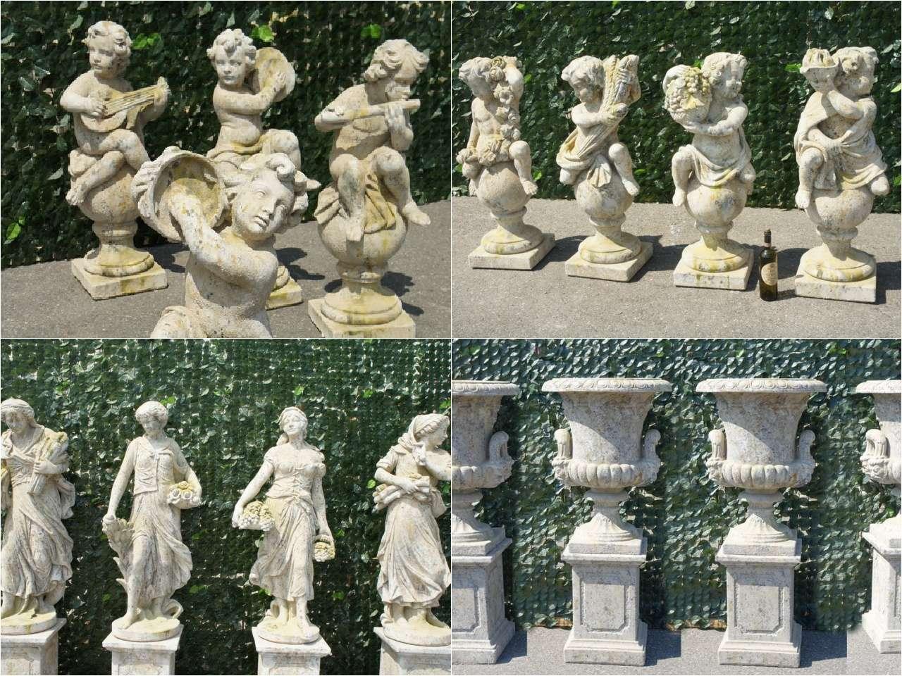 Arredo giardino statue giardino 4 stagioni vasi leoni for Colonne da giardino