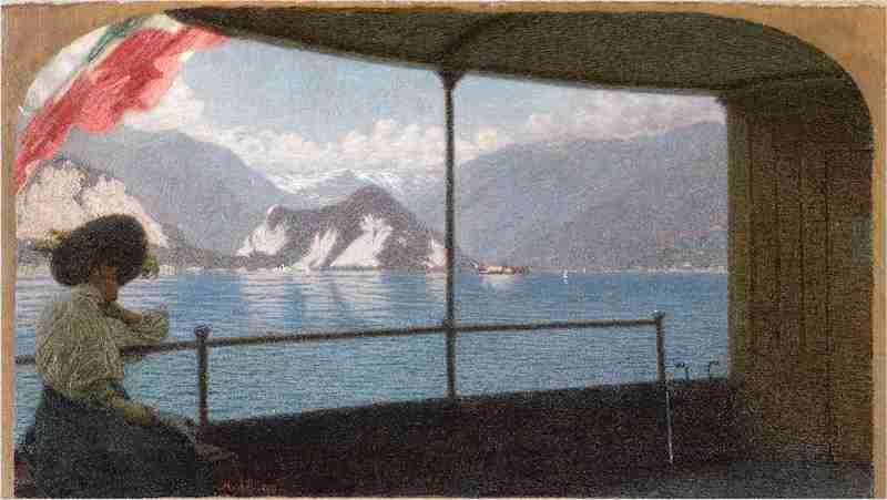 Artgate_Fondazione_Cariplo_-_Morbelli_Angelo,_Battello_sul_Lago_Maggiore