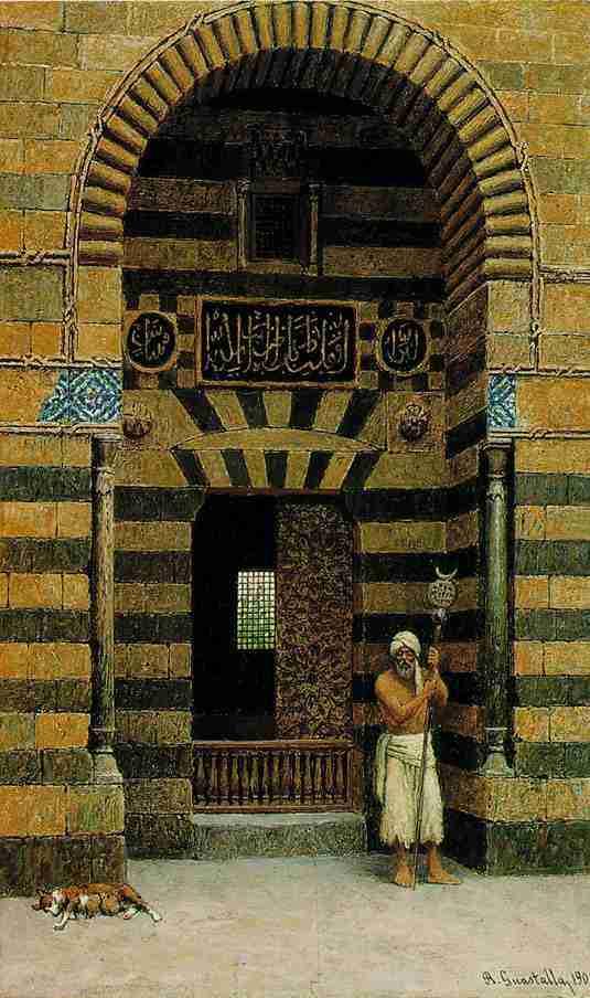 R.Guastalla-Santone_davanti_alla_porta_di_una_Moschea
