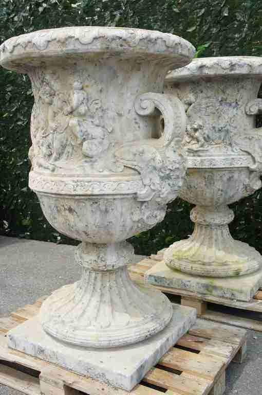 Arredo giardino statue giardino 4 stagioni vasi leoni putti sculture - Vasi terracotta da giardino ...