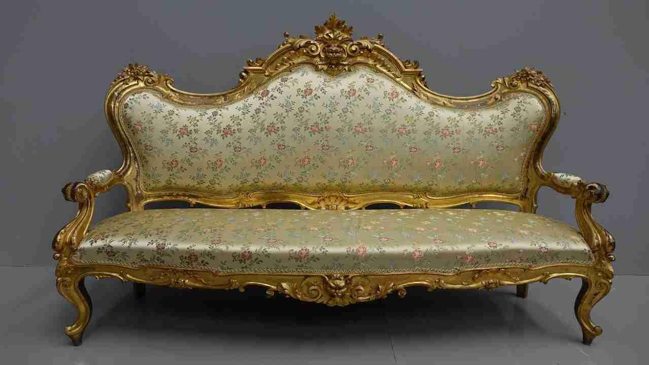 salotto l xvi antico foglia oro 17