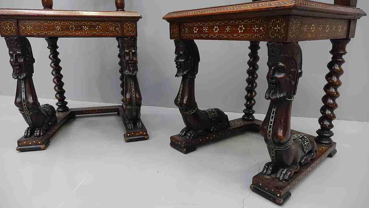 sedie intarsiati avorio 16