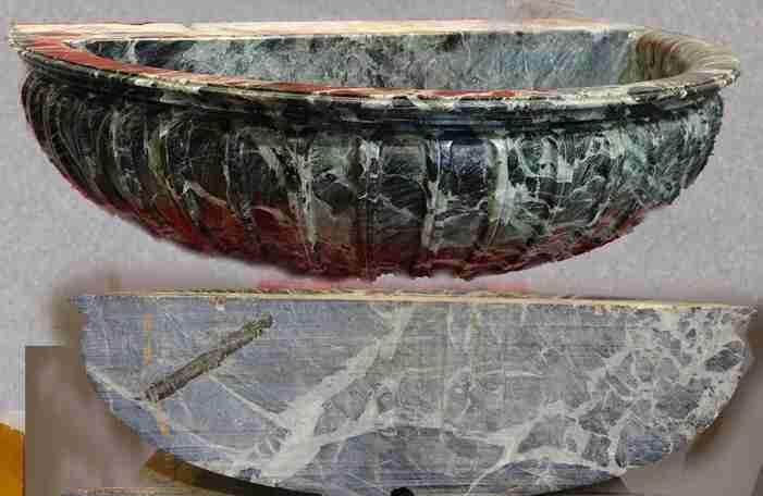 lavandino marmo verde 1