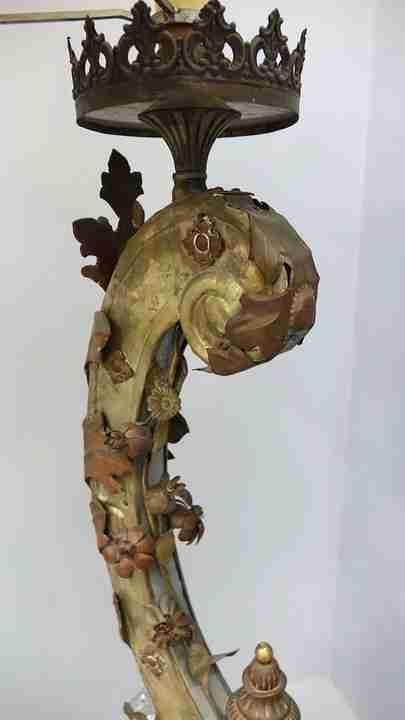 lampada legno Luigi XIV  5