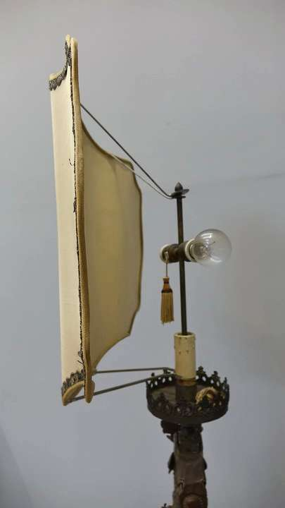 lampada legno Luigi XIV 9