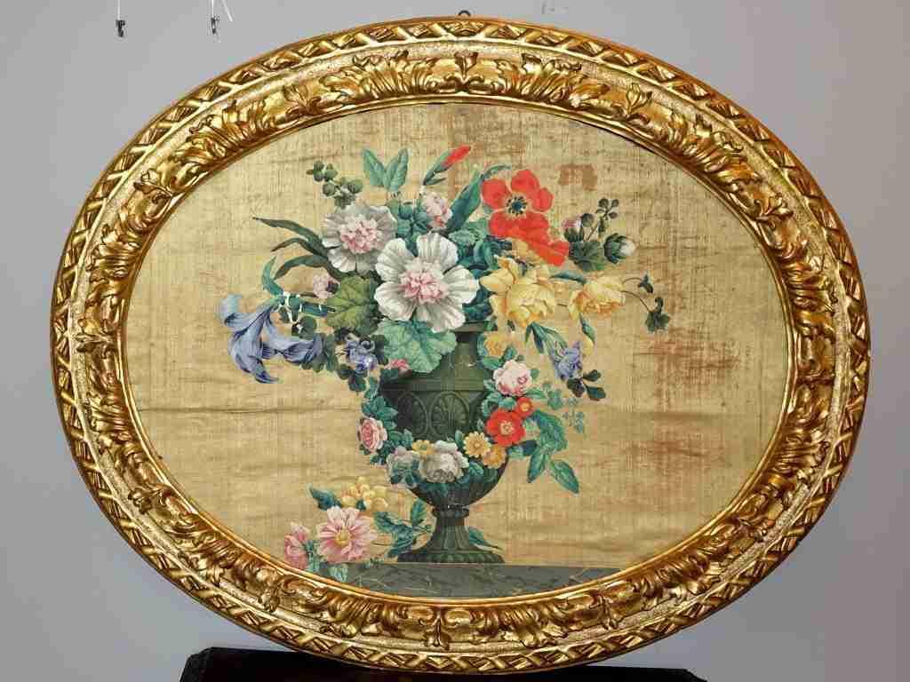Pannelli in seta Luigi XIV primi 700 1