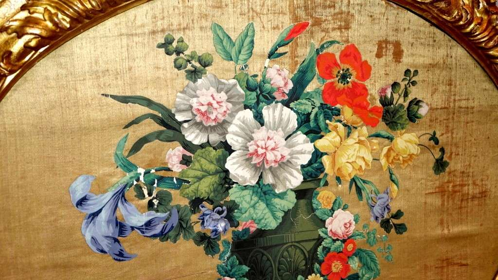 Pannelli in seta Luigi XIV primi 700 4