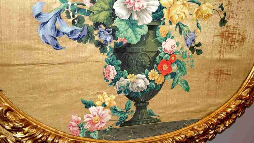 Pannelli in seta Luigi XIV primi 700 5