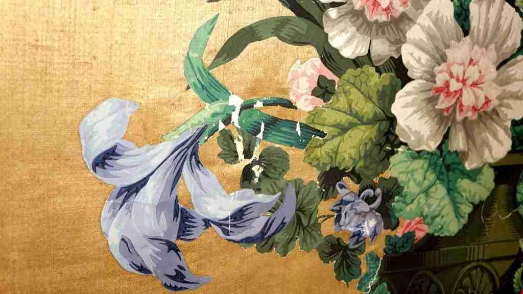 Pannelli in seta Luigi XIV primi 700 6