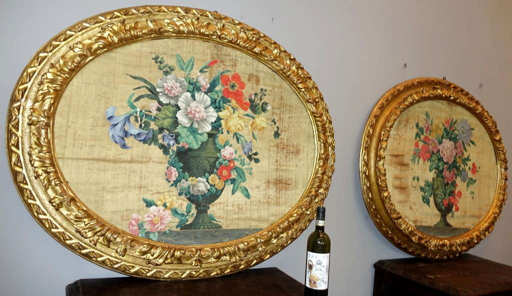 Pannelli in seta Luigi XIV primi 700 2