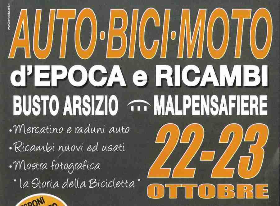Auto, bici, moto d'epoca e ricambi 22-23 ottobre