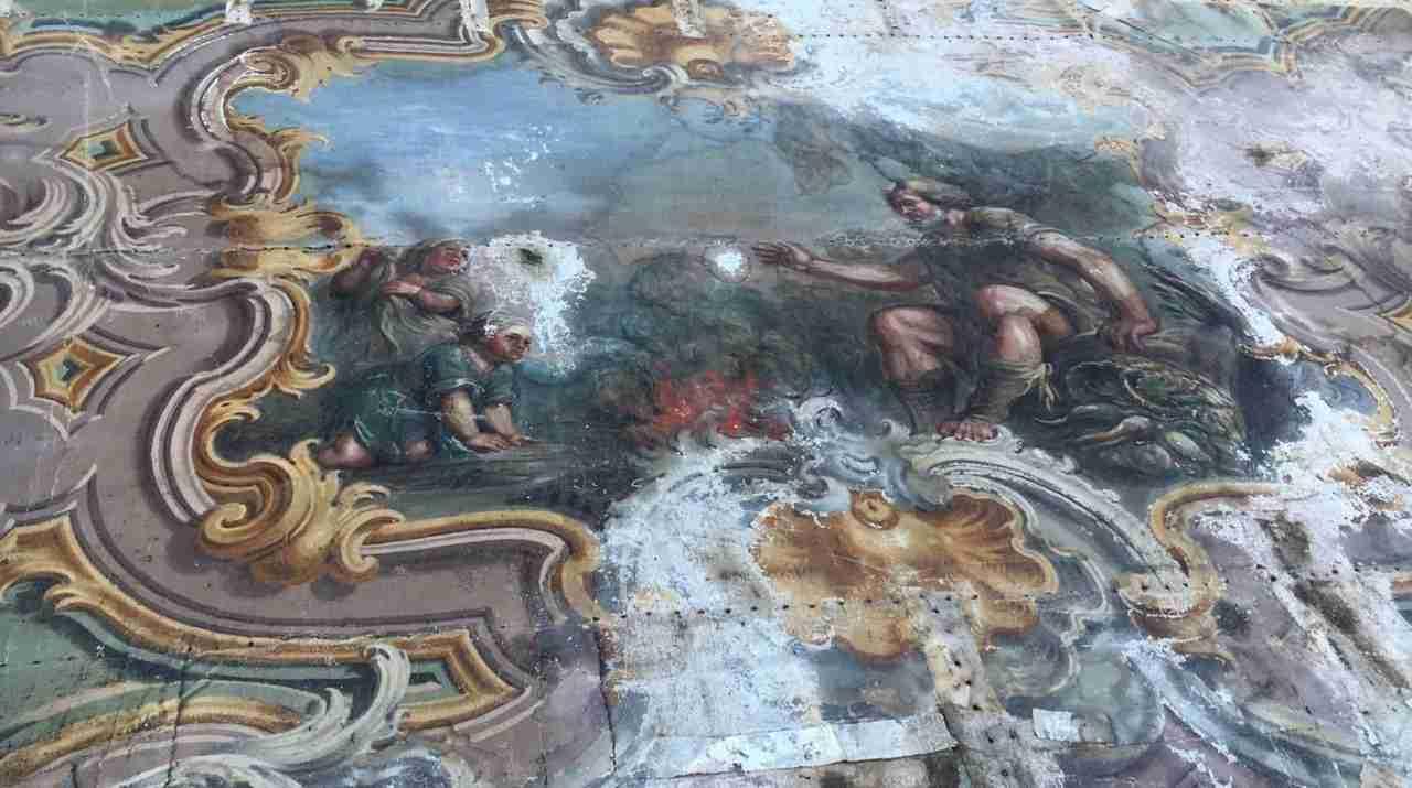 Coppia di soffitti dipinti ad olio su tela 1060004  Gognabros.it