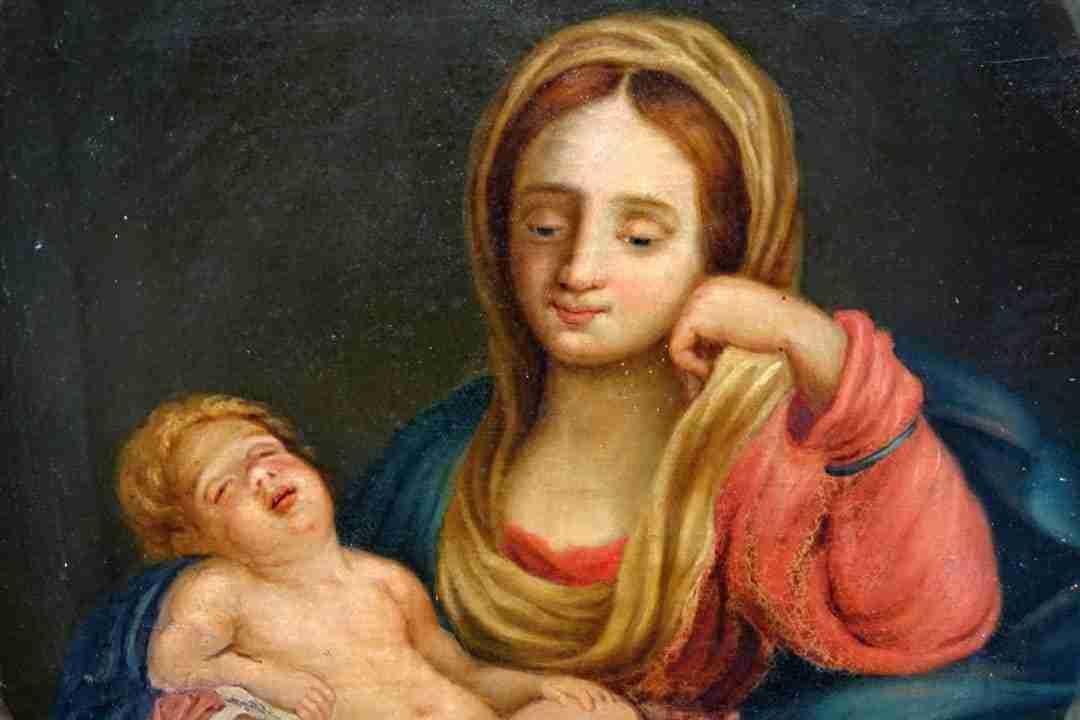 Dipinto Madonna con Bambino Gio Farina