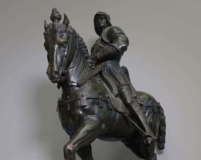 scultura bronzo bartolomeo colleoni dal verrocchio a venezia