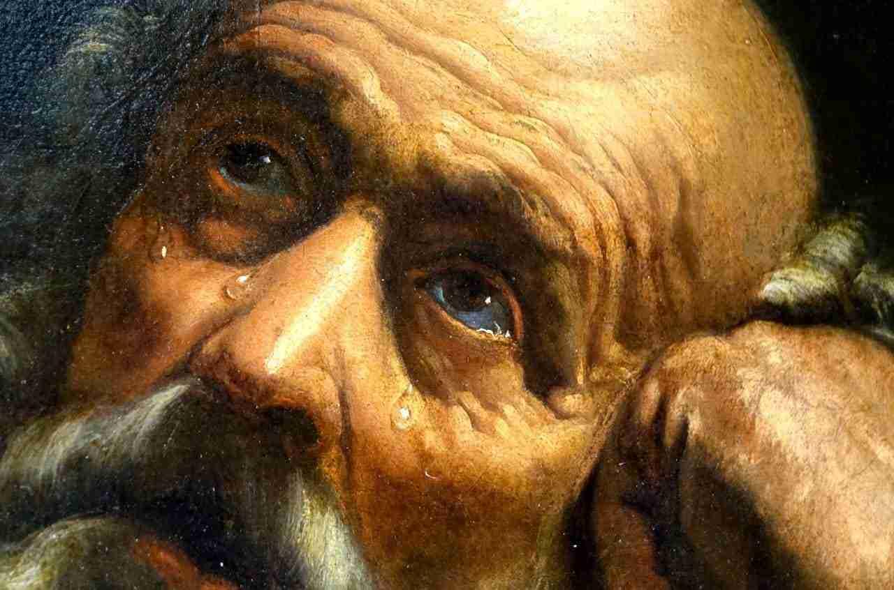 Guido Reni Pentimento di San Pietro