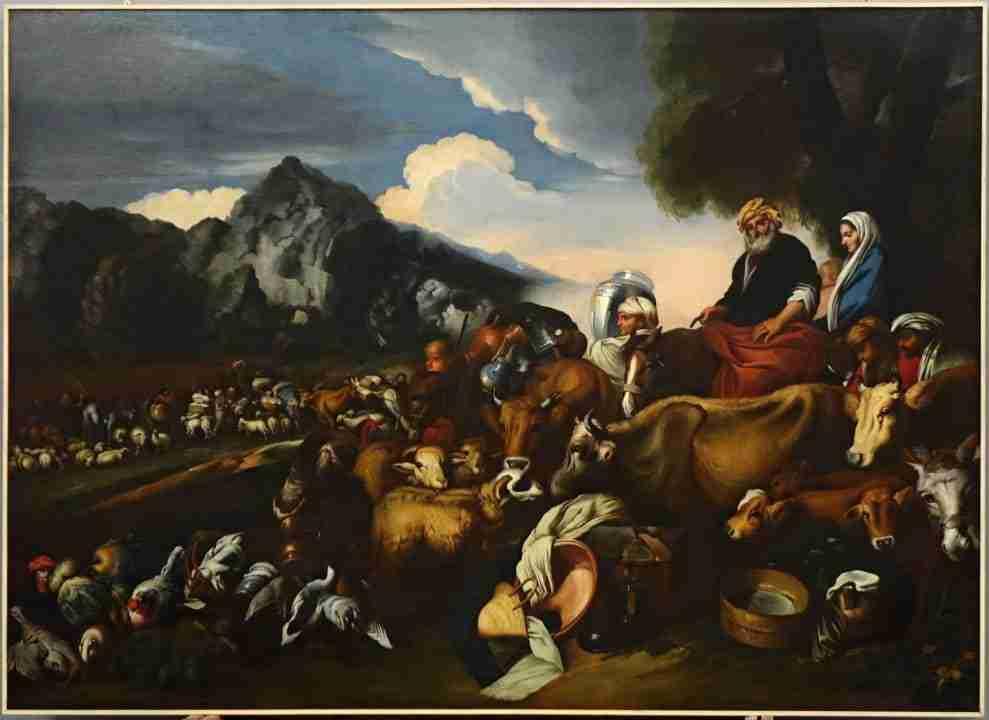viaggio di abramo verso canaan  Ambito Castiglione grechetto
