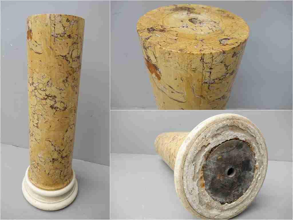 Colonna portavaso scagliola marmorizzata