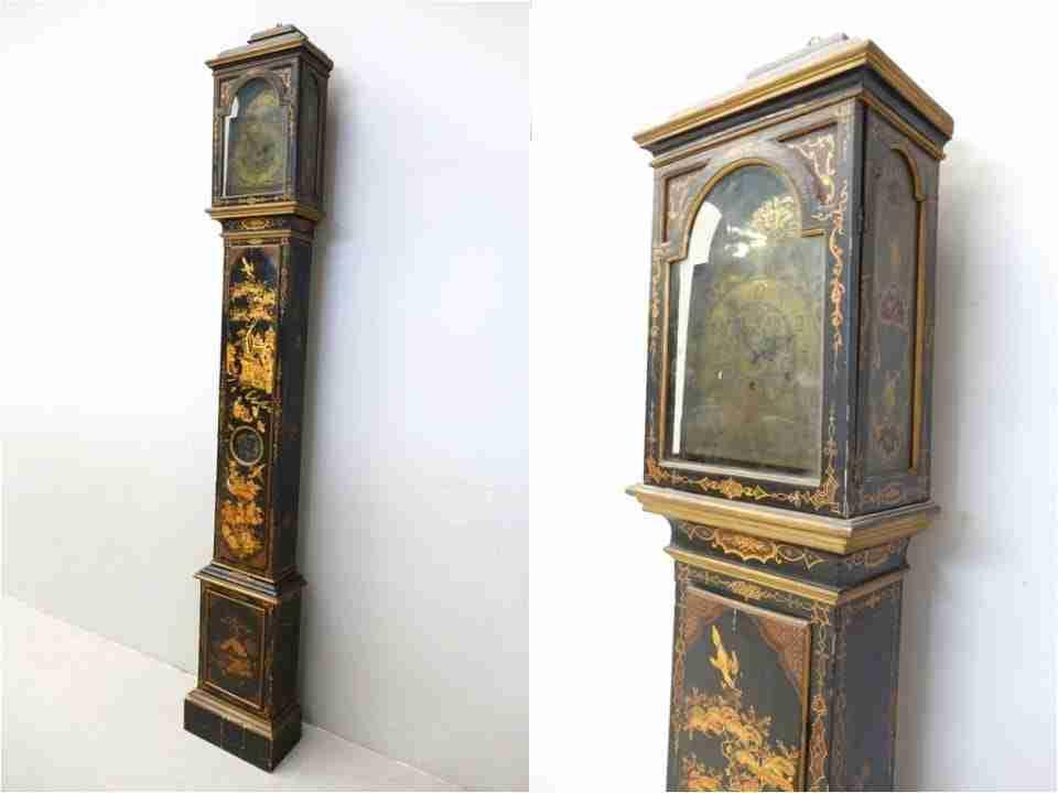 Orologio pendolo laccato dipinto
